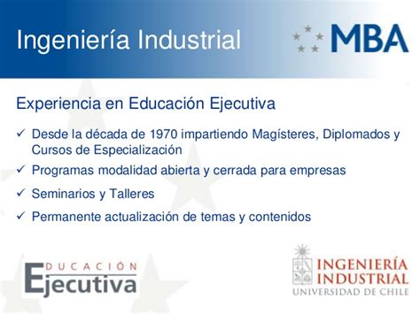 Mba Ingenieria Industrial by Mba Universidad De Chile 2013 Martin Meister