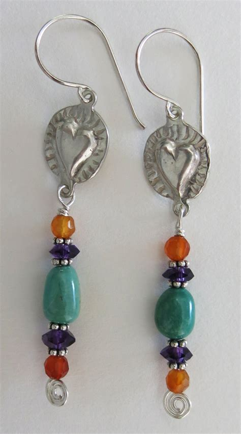 Handmade Earing - handmade turquoise and earrings handmade jewelry