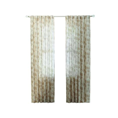 martha living curtains martha stewart living taupe leaf back tab curtain 1624091