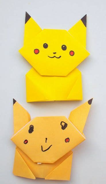tutorial origami pokemon easy origami pikachu tutorial