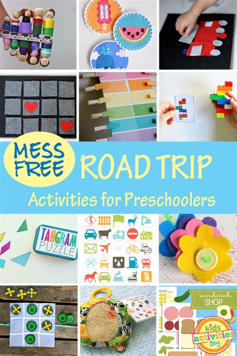 printable road trip games for preschoolers pin crayon theme worksheets and printables on pinterest
