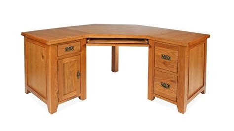 Oak Corner Desks For Home Canterbury Oak Corner Desk