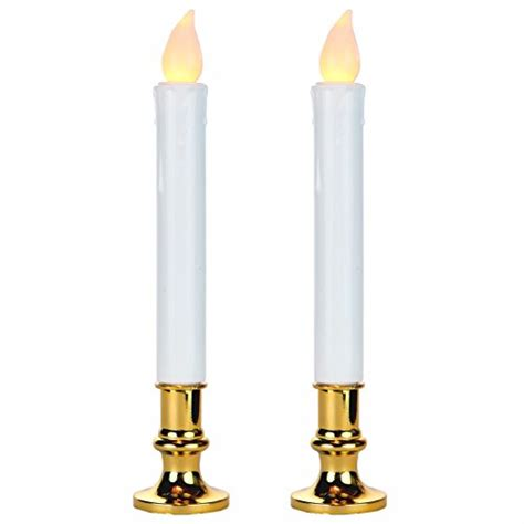 battery taper candles uk s home led battery operated 9 inch flameless taper candles w timer 2 new ebay