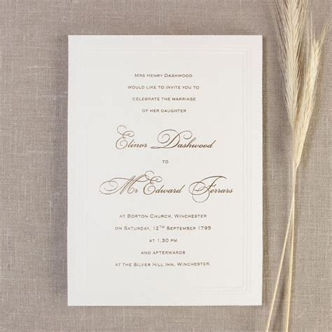 Wedding Day Invitations by Simple Embossed Wedding Day Invitation Cartalia