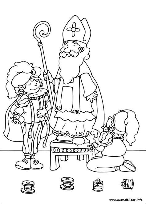 Sankt Nikolaus Malvorlagen Coloriage Petits Ecoliers L