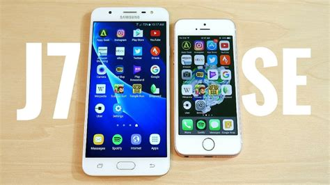 samsung galaxy j7 prime vs iphone se