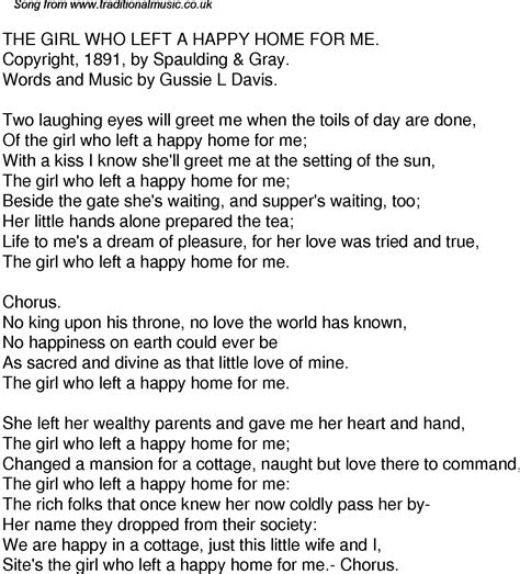 time song lyrics for 49 the who left a happy home