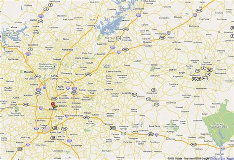 atlanta ga on us map atlanta ga map map of atlanta ga united states of america