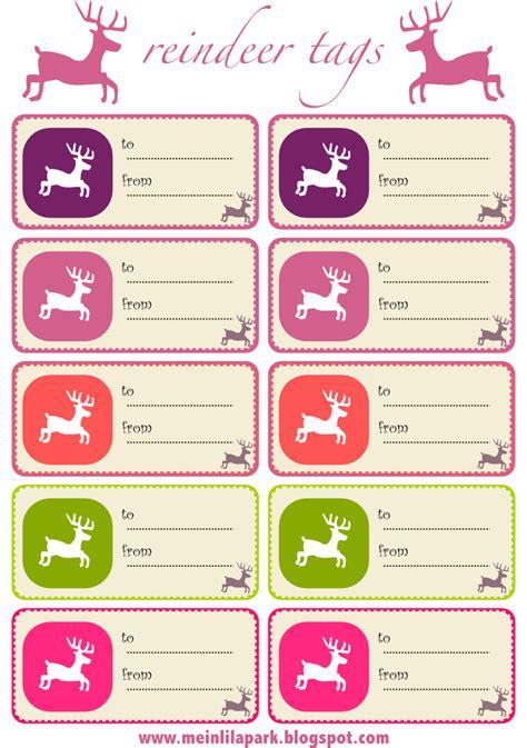 printable reindeer gift tags free printable reindeer gift tags and reindeer wrap paper