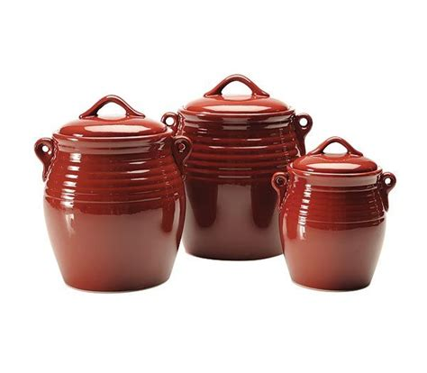 Red Kitchen Canister Sets Ceramic | ceramic kitchen canister set red polka dot ceramic