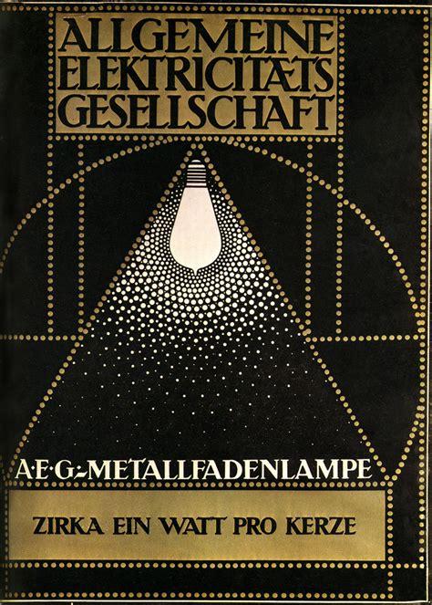 Design Library aeg electric lamps creator peter behrens german