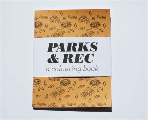 image of parks rec a mini colouring book makes a