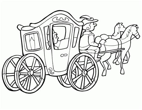 horse and carriage coloring pages printable get coloring
