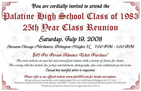 exles of school and family reunion invitation cards