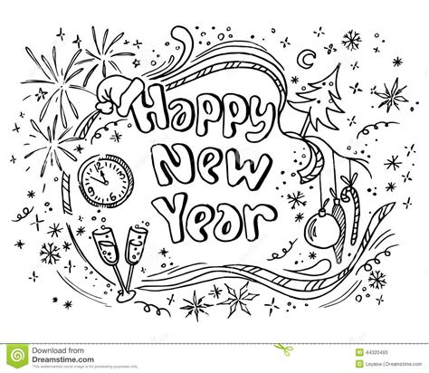 doodle new doodle new year stock vector image 44320493