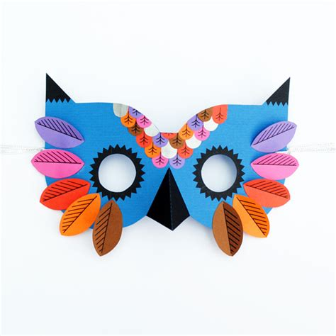 masks craft paper owl mask minieco