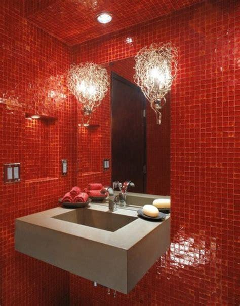 rote fliesen bad gestaltung mit farbe wann sollte rot im badezimmer