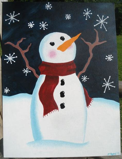 ideas winter sale winter sale snowman catching flakes acrylic painting