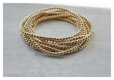 gold beaded bracelet gold beaded bracelet gold stack bracelet gold bead bracelet