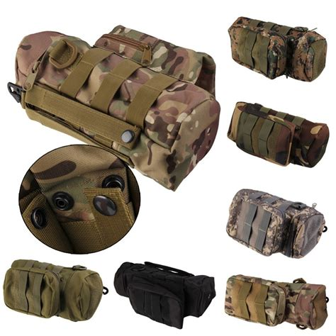 baru travel taktis molle militer ritsleting botol air hidrasi tas kantong hiking outdoor h1e1