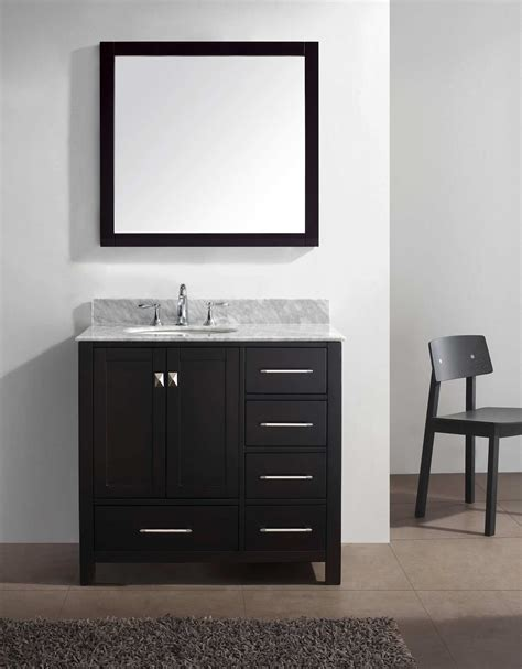 virtu usa caroline 36 inch single sink bathroom vanity set