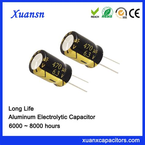 capacitor hours low voltage 470uf 6 3v capacitor 8000hours