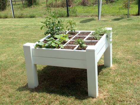 Raised Garden Table by A Raised Garden Bed With Legs Table Heighth By