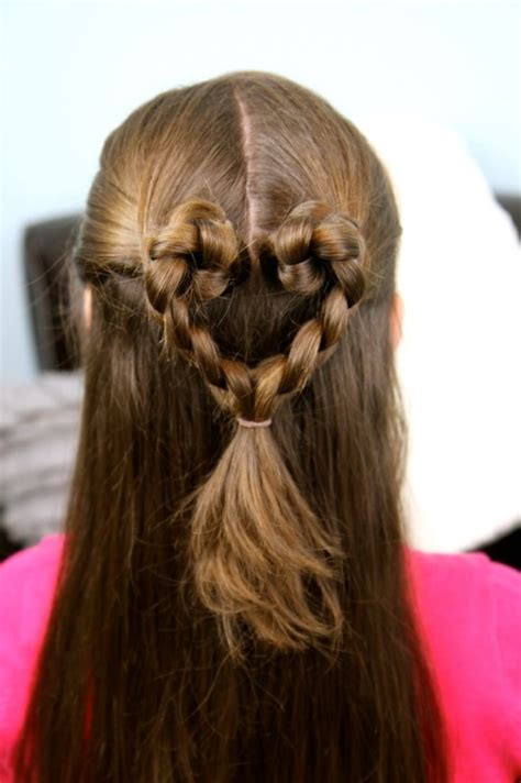 braided hairstyles heart 21 cute hairstyles for girls hairstyles weekly
