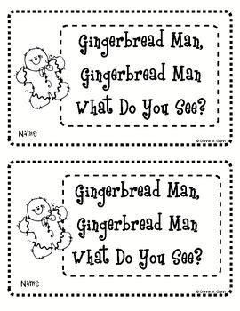 gingerbread man printable book kindergarten 64 best images about preschool themes gingerbread on pinterest