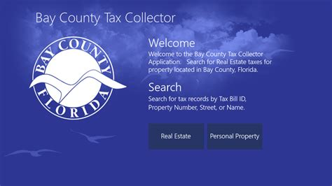 Bay County Property Tax Records The Welcome Page Lets The User Select Whether To Show Real Estate Or Personal Property