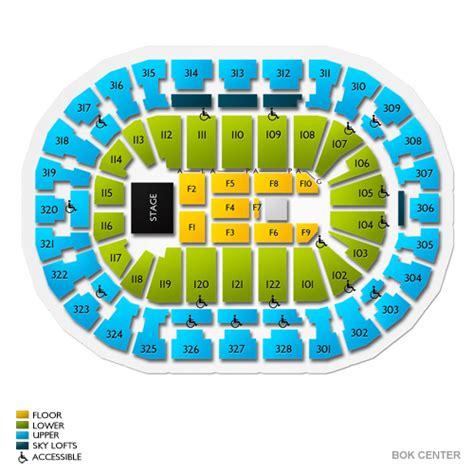 detailed seating chart bok center tulsa bok center tickets bok center information bok center