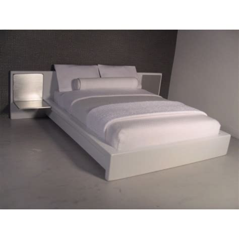 Dollhouse Headboard by Modern Dollhouse Furniture M112 Pods White Platform Bed With White Headboard And Aluminum