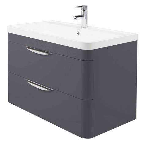 Wall Hung Vanity Unit by Monza Wall Hung 2 Drawer Vanity Unit With Basin W800 X