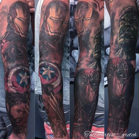 marvel sleeve tattoo designs 25 best ideas about marvel sleeve on
