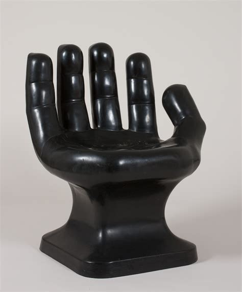 Hand Carved Furniture by Vintage Pop Black Molded Plastic Hand Chair Ca 1960 S