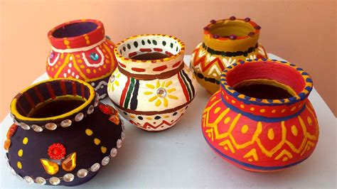 how to decorate a pot at home matki decoration how to decorate pot at home indian