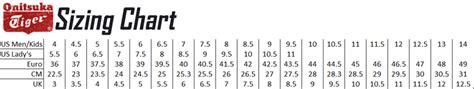 shoe size chart onitsuka tiger asics x onitsuka x hanon gel epirus tropical sz us 12 5