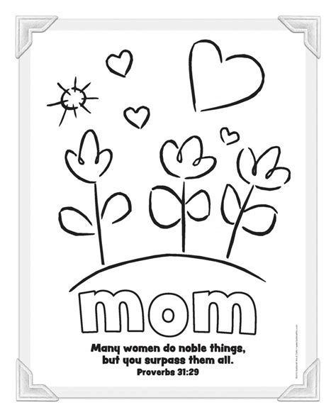 Religious Mothers Day Card Template by Christian S Day Printables From Guildcraft Arts