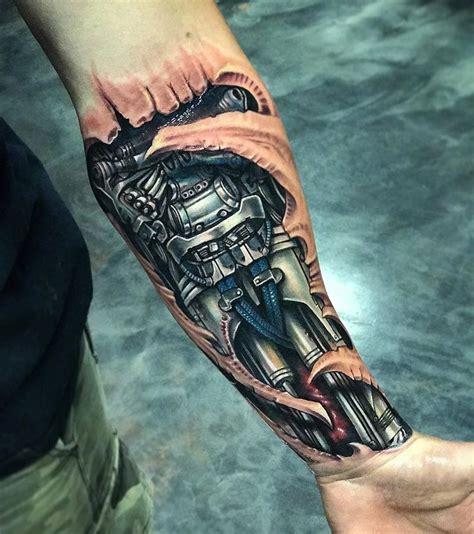 biomechanical tattoo uk biomechanical forearm tattoo tattoo designs robot and