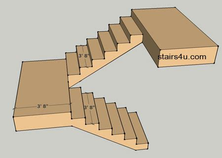 staircase width stair landing minimum widths