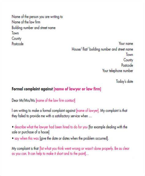 Business Letter Sle Of Complaint Complaint Letters In Pdf Free Premium Templates