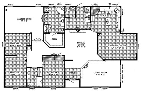 triple wide modular homes floor plans triple wide mobile home floor plans bestofhouse net 27817