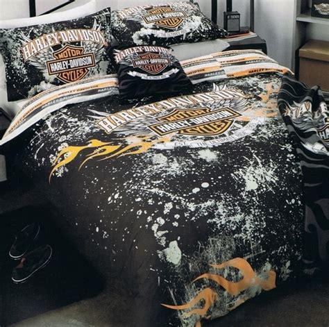 Harley Davidson Bed Set Harley Davidson Quot Ultimate Ride Quot Single Bed Quilt Doona Duvet Cover Set New