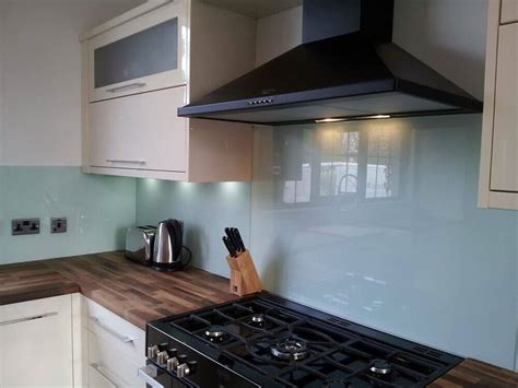Kitchen Splash Guard Ideas made to measure coloured glass splashbacks