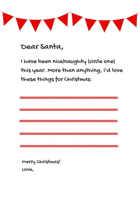 paper direct templates 6 free santa letter templates from paperdirect