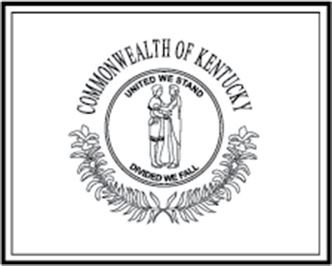State Flag Coloring Pages Kentucky State Flag Coloring Page