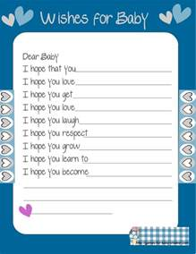 free printable baby shower wishes for the baby