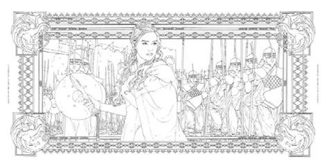 of thrones coloring book from season 7 books anunciado el libro oficial para colorear de juego de