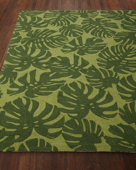 fond leaf indoor outdoor rug 7 6 x 9 6 quot