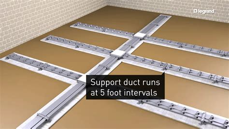 Wiremold Floor Duct by Wiremold How To Install Walkerduct Underfloor Ducts